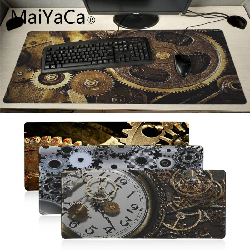 MaiYaCa Mon Préféré Engrenages mécanique technics metal Clavier Tapis De Souris De Jeu Bureau Souris Gamer Doux Lockedge Tapis de Souris gamer