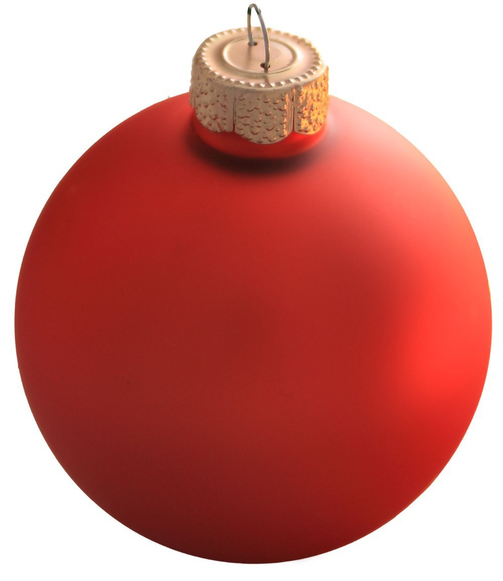 Free Shipping Event Party Bauble Ornaments Christmas Xmas Tree Glass Balls Decoration 80mm Fire Orange Ball Ornament - Matte