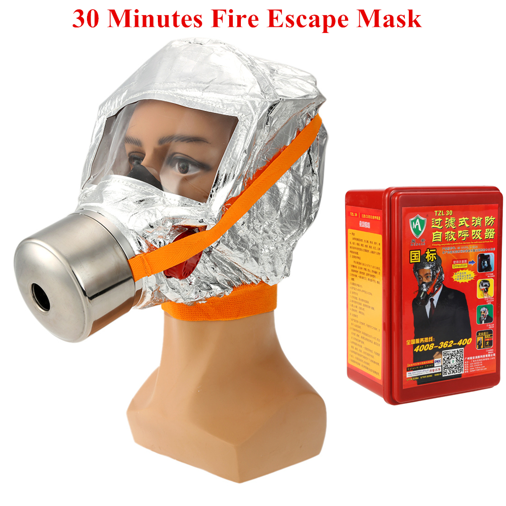 Pro Emergency Escape Respirator Mask 30 Minutes Fire Escape Mask Forced 3C Certification Self-life-saving Fire Gas Respirator наземный высокий светильник fumagalli cefa u23 162 000 aye27