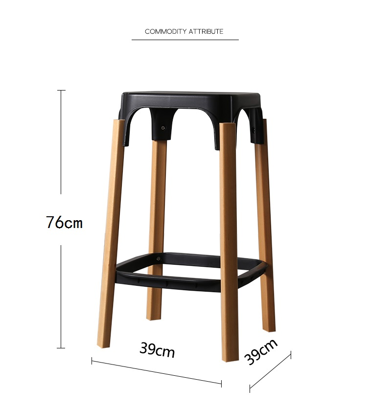 Marvelous Us 239 9 Modern Design Steel Wood Bar Stool Solid Wooden Leg Metal Base Bar Chair Caft Loft Counter Stool 76Cm Seat Height In Bar Stools From Creativecarmelina Interior Chair Design Creativecarmelinacom