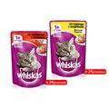 Mars Whiskas Gatos Alimentos Úmidos para Gatos Adultos Pasta Pasta de Carne de Fígado Bovino Carne de Peru e Frango 85g * 48 pacotes