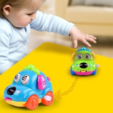 Купить с кэшбэком Wind Up Toys Crawling Kids Mini Jumping Pull Back Gift Cartoon Animal Dog Running Car Clockwork Classic Cute Baby Toys Infant