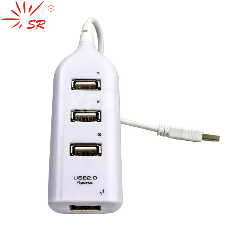 Mini USB 2.0 4 Port Cable Hub Spliter Adapter For Computer Notebook PC Laptop~SR