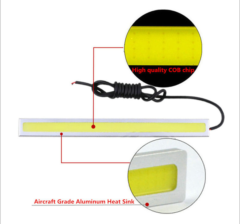 14CM Cob high power drl bulbs led day light running daylight Ultra thin lights Car Light Source parking lamps 12V in Signal Lamp from Automobiles Motorcycles