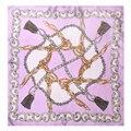 Garantía 100% de Cuerda y Cadena de La Bufanda de Seda Bufanda de Las Mujeres Pequeñas Moda Femenina 2017 Mini Pañuelo de Seda cuadrada 50 cm Señora de la Oficina regalo
