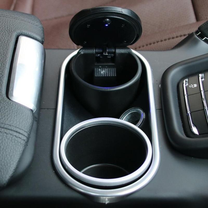 Car Ash Tray Ashtray Storage Cup With LED For Land Rover LR4 LR3 LR2 Range Rover Evoque Defender Discovery Freelander bruder внедорожник land rover defender