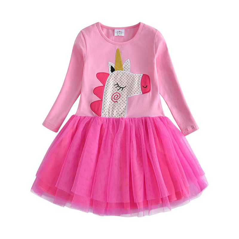 HTB1NkJwcmzqK1RjSZFpq6ykSXXal VIKITA Kids Girls Dress Baby Children Toddler Princess Dress Vestidos Children's Clothing Girls Winter Dresses 2-8Y LH5805 MIX