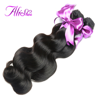 Alishes Brazilian Body Wave Hair 8 28 Inch Remy Hair Bundles 100 Human Hair Weaving Natural