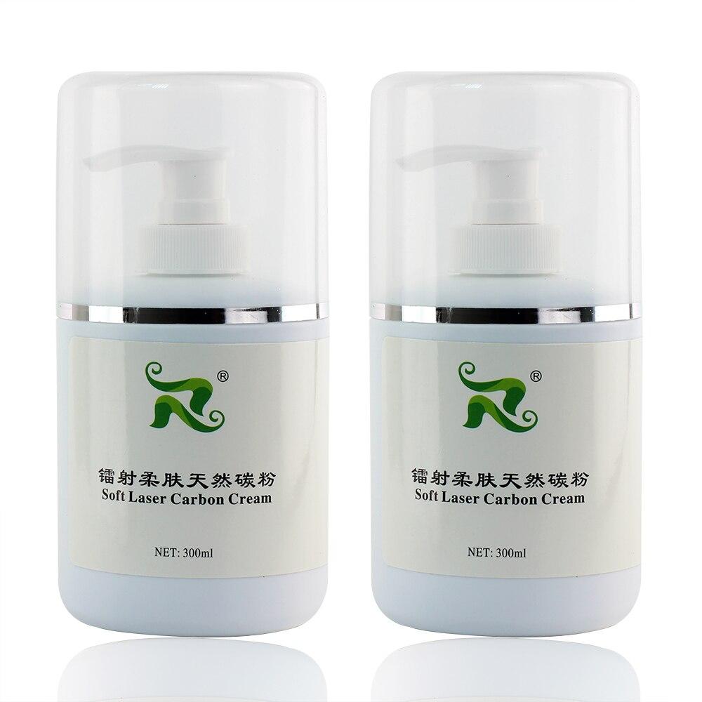 300ml soft laser carbon cream nano carbon gel cream for Skin whitening Reduce pigmentation 2pcs set