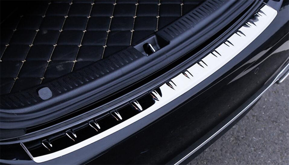 ФОТО Exterior Rear Bumper Sill Trim Cover For Mercedes Benz W213 E Class 2016 2017