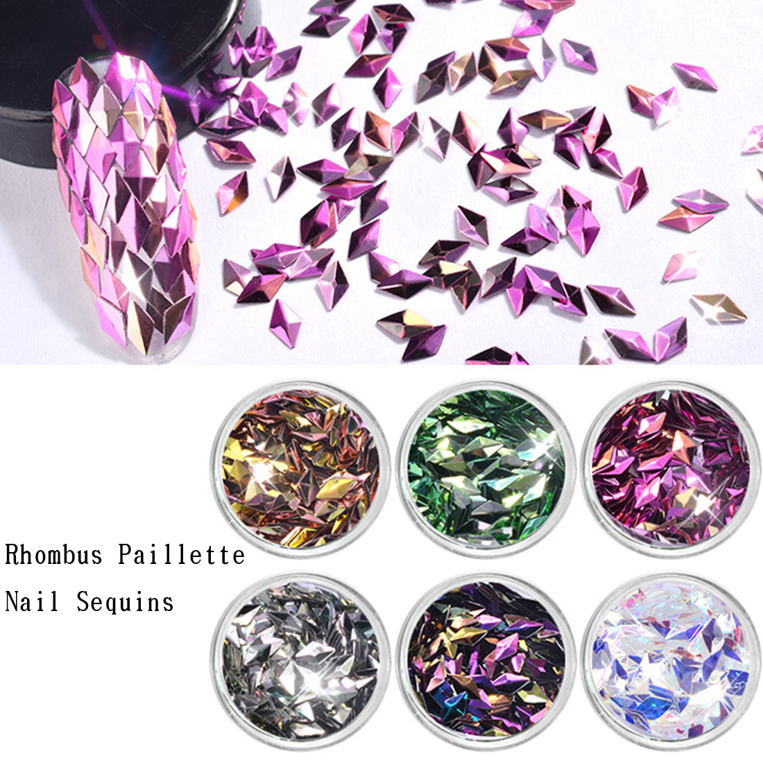 Neue 1 Box Mini Hexagon Form Laser Glänzende Nail Art Glitter Diy Sparkly Paillette Tipps Nagel Maniküre Pailletten Weich Und Leicht Nails Art & Werkzeuge Schönheit & Gesundheit