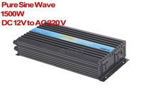 1500W Pure Sine Wave DC 12V To AC 220 V Power Inverter Fast Shipping