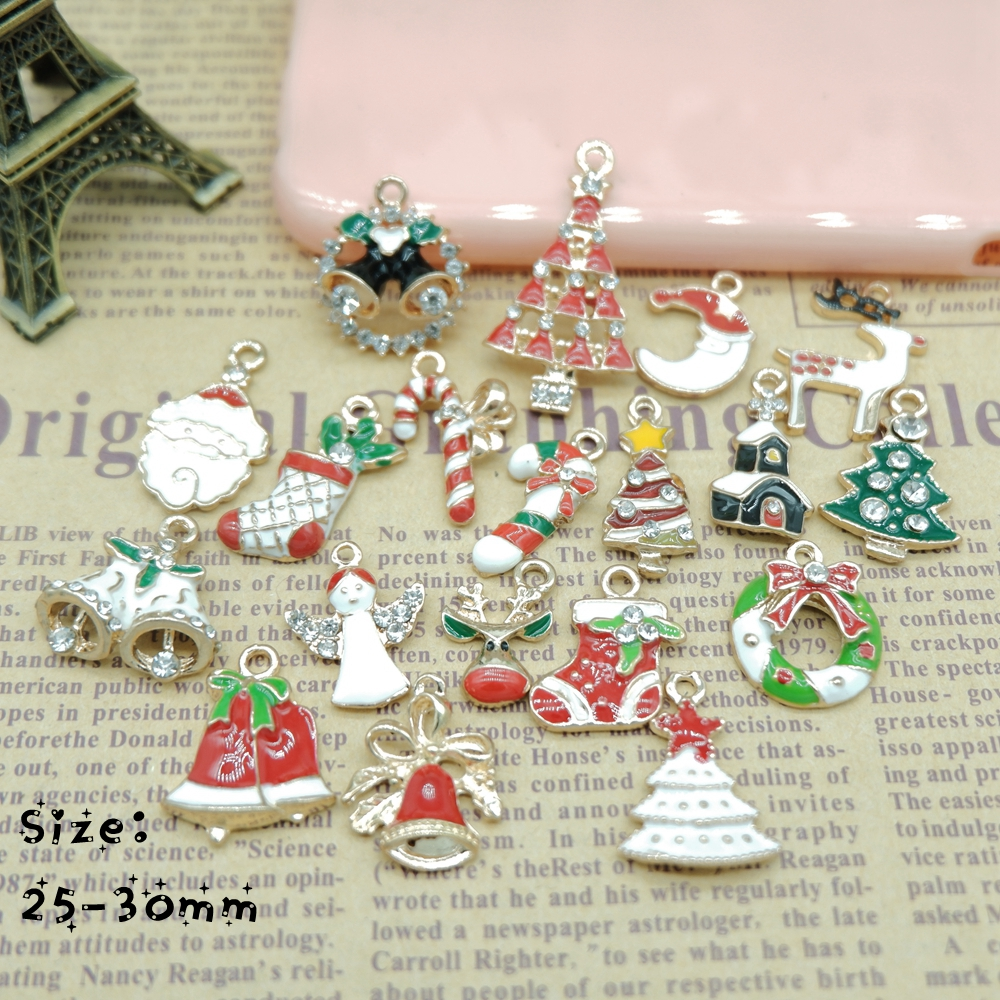 Metal alloy mix christmas sets charm for holiday for Christmas decoration stuff