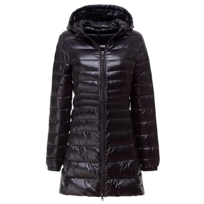 New Winter Slim   Down     Coat   Women Ultra Light White Duck   Down   Jackets Hoode Female Outwears G006