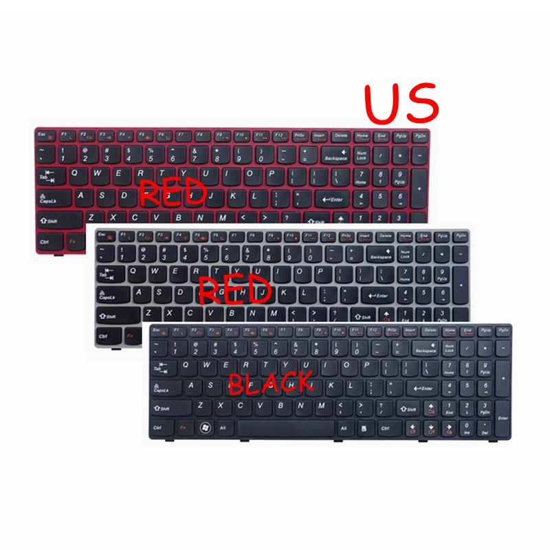 English US Keyboard For Lenovo G580 Z580 G580A V580A Z580A G580AH G580AM G580G G585 G585A G585AR B580 G780 G770 G590 NEW