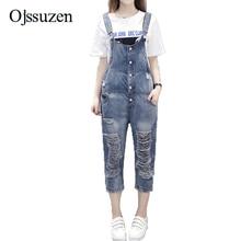 960e9cf284a0 Hole Ripped Women Jumpsuit Denim Overalls Boyfriend Suspender Pants Jeans  Vintage Ladies Jeans Overalls Rompers(