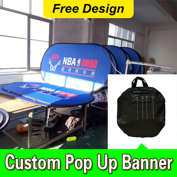 custom horizontal A frame pop up banner free design free shipping