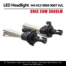 1 Set Fanless C ree G5 LED Headlight 40W 5000LM H1 H3 H4 H7 H8 H9 H11 9005 9006 9012 9004 9007 H13 Car LED Headlight Bulb