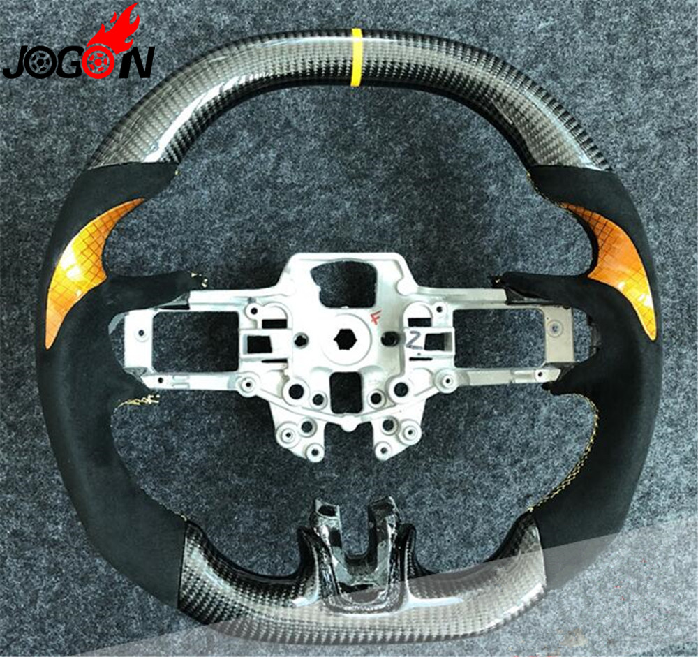 Carbon Fiber Steering Wheel For Ford Mustang S550 EcoBoost 5 0 GT Coyote 2 3 GT