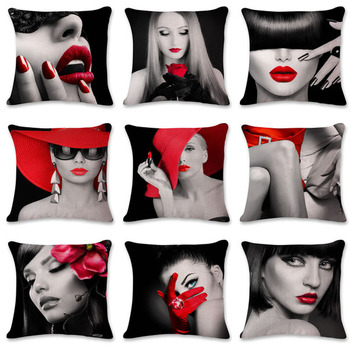 Red Lips Cushion Covers