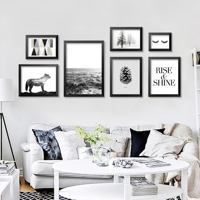 Merveilleux 2017 Fashion Black Nordic Canvas Art Print Painting Poster Wall Picture For Home  Decoration Home Decor