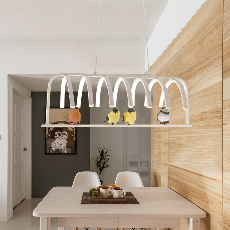 NEW White Aluminum Hanging lighting fixtures Modern led pendant lights for Kitchen Dining Room Living Room Suspension luminaires