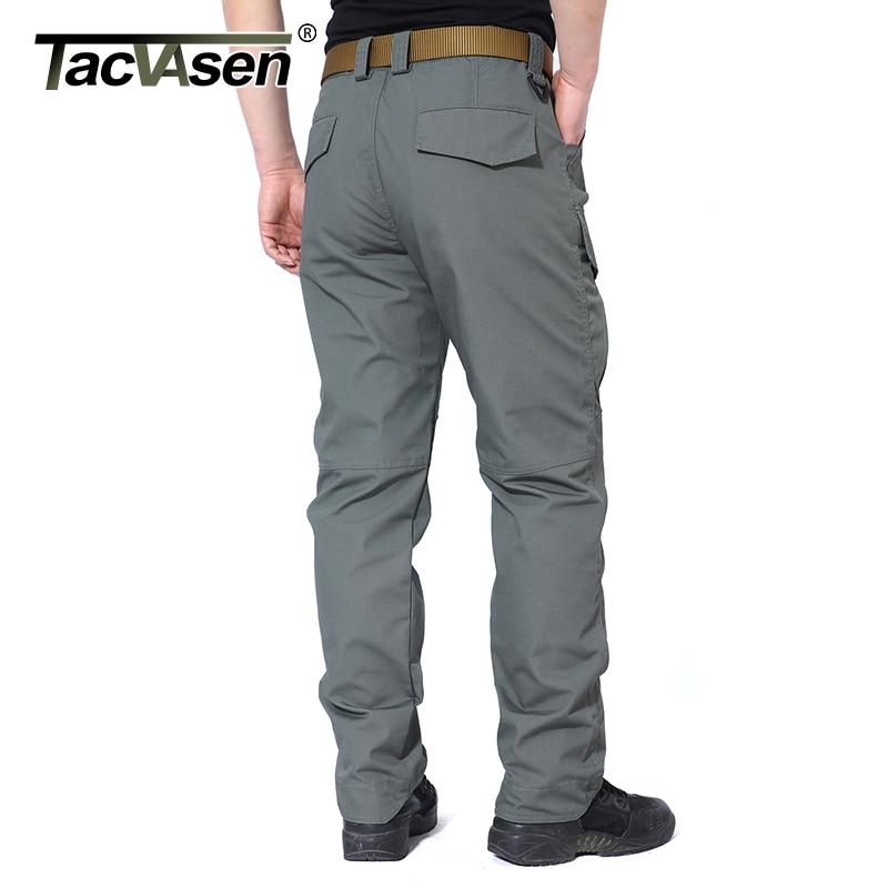 TACVASEN Men Tactical Pants Waterproof Cargo Pants Multi Pockets Casual Pants Army Military Pants Combat Trousers TD-QZJL-006