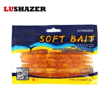 6PCS/LOT Lushazer soft lure for fishing 14cm 8g fish silicone bait iscas artificiais para pesca worm baits cheap fishing tackle