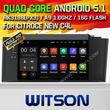 WITSON Android 5.1 Quad Core АВТОМОБИЛЬНЫЙ DVD для НОВЫЙ CITROEN C4L 2012 СБ NAV СТЕРЕО + 1024X600 ЭКРАН + DVR/WI-FI/3 Г + DSP + RDS + 16 ГБ flash
