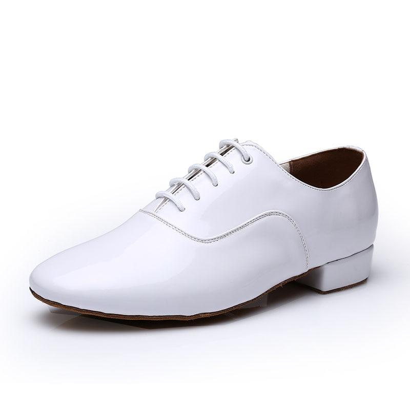 Modern Dance Shoes Man Sports Soft Bottom Male Leather Ballroom Sneaker Waltz Dancing