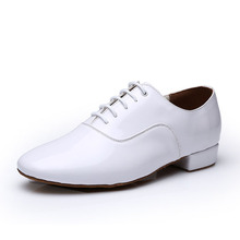 Modern Dance Shoes Man Sports Soft Bottom Male Leather Ballroom Sneaker Waltz Dancing