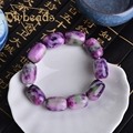 New Violet Ceramics Natural Stone Bracelet Lap Bracelets Jewelry Charm Beads Gifts Diybeads