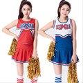 Ladies Football Basketball Costume Fancy Dress Up Red Cheerleader Dresses Cheerleader Coplays S-XXL