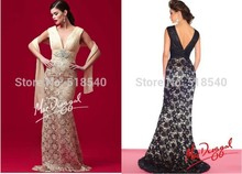 free shipping vestido de festa longo formal dress robe soiree 2014 new hot sexy crystal v-neck lace party gown evening