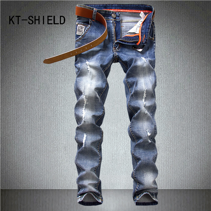 ripped skinny denim jeans mens brand slim straight cargo casual trousers hombre biker hip hop jogger pants pantalon mezclilla mens casual elastic ripped drape denim hip hop slim fit distressed biker jeans pants black straight pencil trousers multi zipper