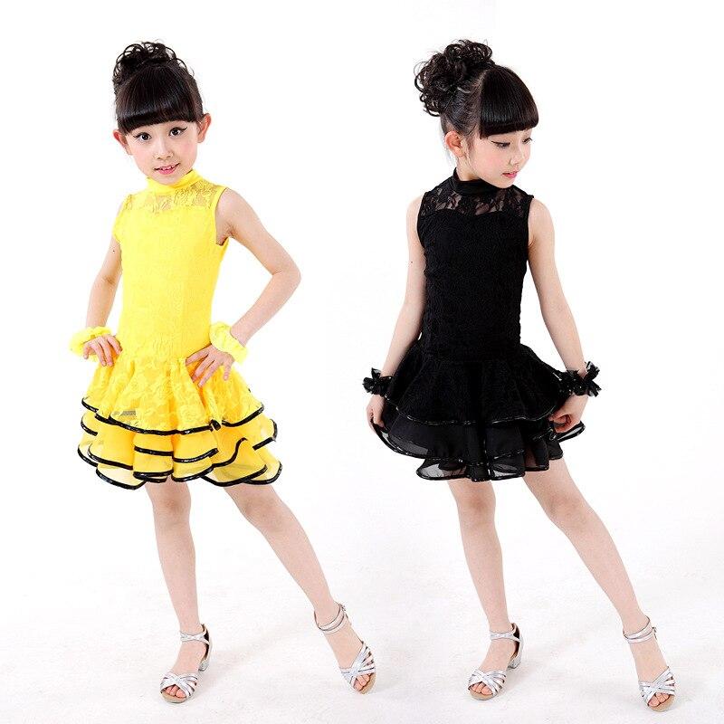 c14969984 Desigual Encaje Niñas Latino danza disfraces para niños Salón danza salsa  Tango rumba Samba traje