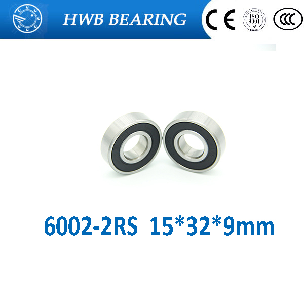 Free shipping 6002-2RS 6002RS 6002 15*32*9mm deep groove ball bearing 15x32x9mm for bicycle part