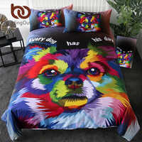 BeddingOutlet Pet Dog Bedding Set Watercolor Art Duvet Cover Set Lovely Pomeranian Home Textiles Colorful Bedclothes 3-Piece