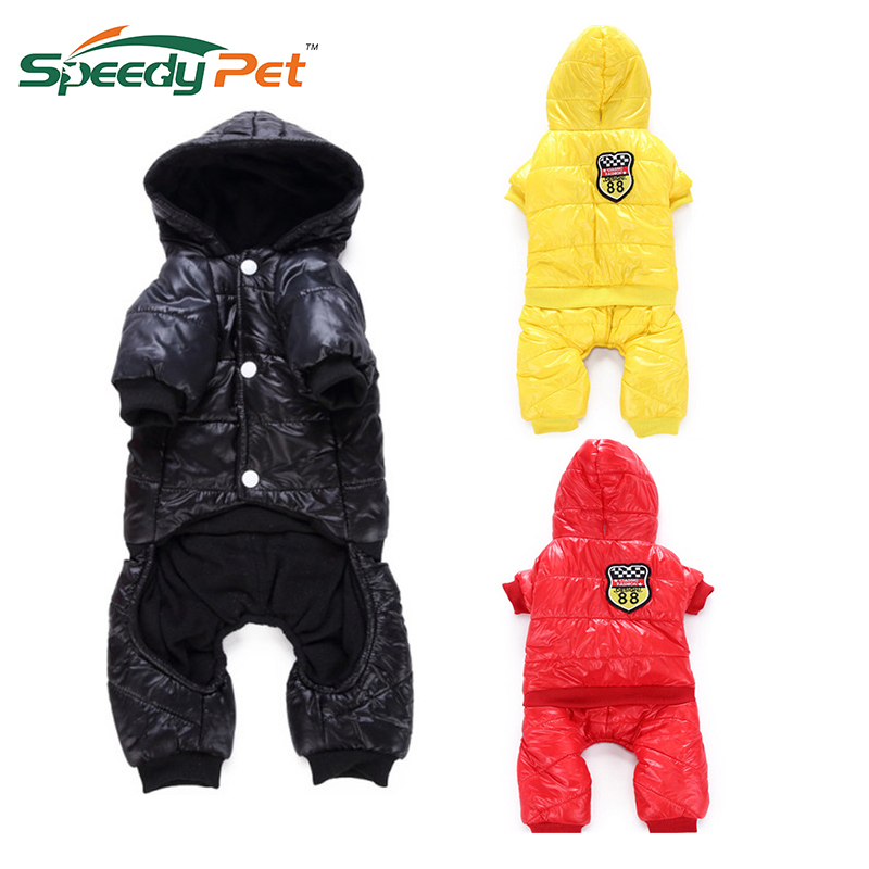 3 Colors Dog Winter Warm Thick For Large Small Dog Soft Pet Clothes Padded Hoodie Pet jump