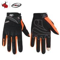 SUOMY motosiklet eldivenleri erkekler yarış Gant Moto motosiklet Motocross bisiklet eldiveni yaz nefes motosiklet tam parmak Guantes|Eldivenler|   -