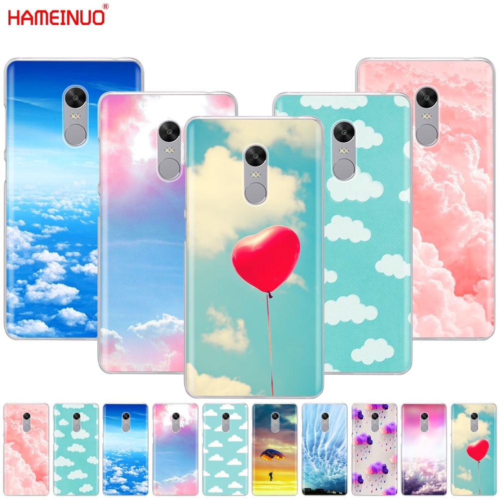 HAMEINUO clouds on blue sky Cover phone Case for Xiaomi redmi 5 4 1 1s 2 3 3s pro PLUS redmi note 4 4X 4A 5A