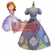 София первая Принцесса София платье карнавальный костюм фиолетовый София платье