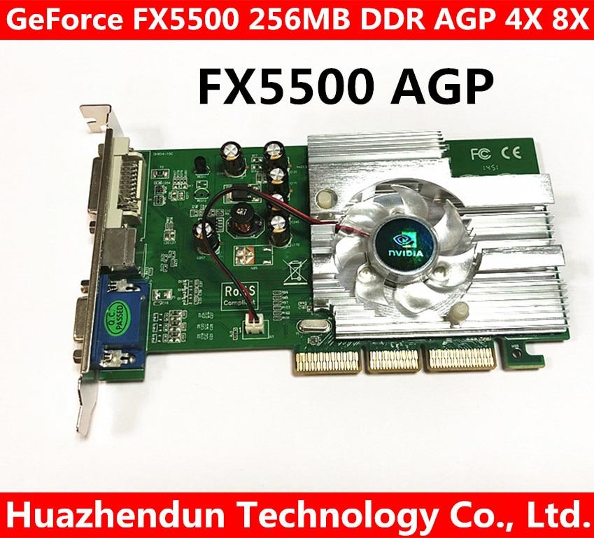 Free Shipping Direct from Factory NEW Quadro GeForce FX5500 256MB DDR AGP 4X 8X VGA DVI Video Card dhl ems free shipping new ati radeon 9550 256mb ddr2 agp 4x 8x video card from factory 50pcs lot