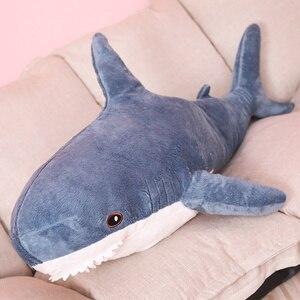 Image 1 - 60 cm Pluche Haai Speelgoed Soft Knuffeldier Rusland Shark Pluche Speelgoed Kussen kussen Pop Simulatie Pop voor Kinderen Verjaardag gift