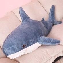 60 cm peluche requin jouets doux en peluche Animal russie requin jouets en peluche oreiller coussin poupée Simulation poupée pour enfants cadeau danniversaire