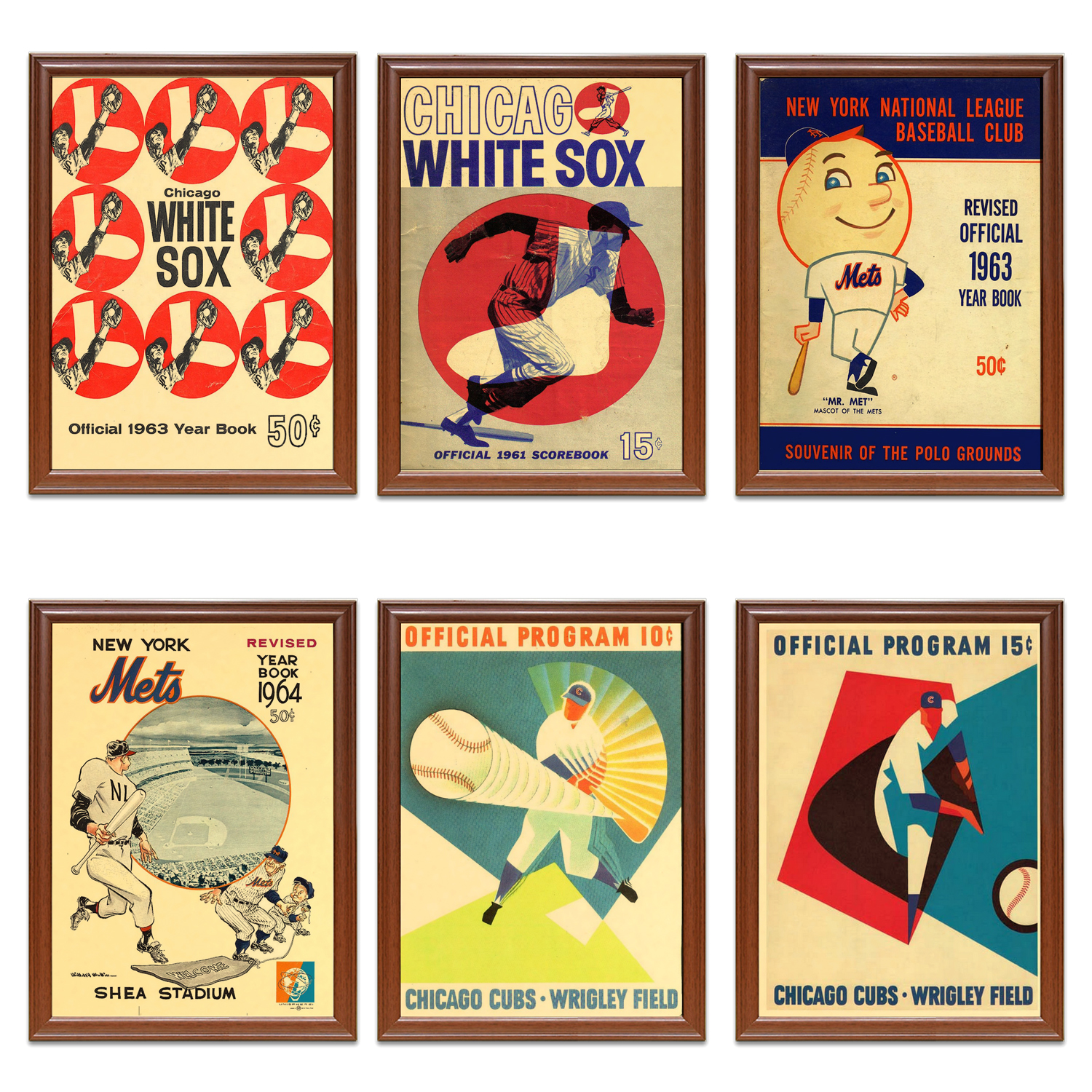 Vintage 1960s Baseball Sports Ads Poster Chicago White Sox