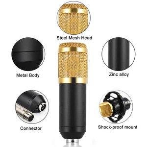 Image 2 - GEVO BM 800 Microphone For Computer Wired Studio Condenser Karaoke Mic BM800 And Pop Filter NB 35 Holder Arm For phantom power