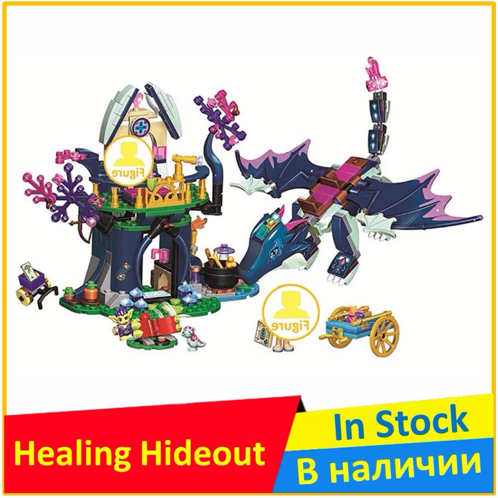 BELA Rosalyn's Healing Hideout 41187 Building Blocks Model Toys For Children 10697 Compatible legoing Elves Brick Figure ynynoo bela 10501 233pcs princess friend elves elvendale school of dragons model building kits blocks brick with 41173