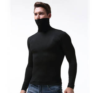 Underwear Men High-Neck Soft Modal Tight Shapers Long-Johns Elastic And Breathable