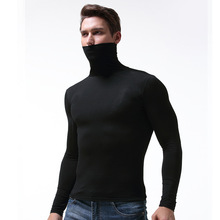 Underwear men modal elastic tight undershirt high neck long johns soft and breathable shapers